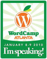 I'm speaking at WordCamp Atlanta!