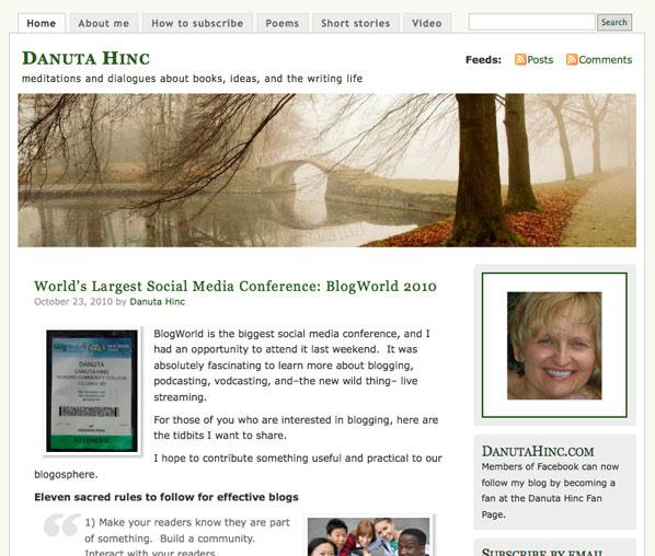 BlogWorld 2010 - Danuta Hinc
