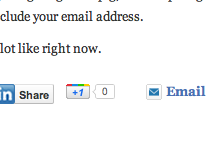 Google+ +1 button
