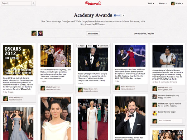 Pinterest - Academy Awards