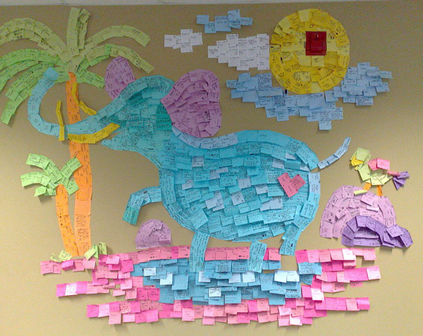 Elephant, sticky notes