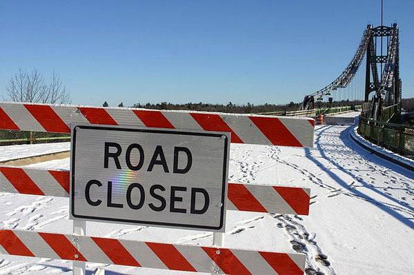bridge road closed
