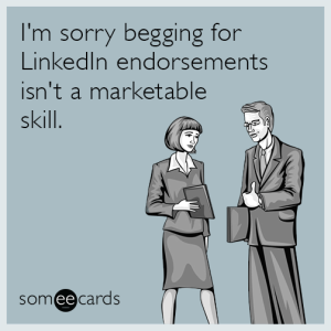 LinkedIn - Someecard
