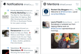 Notifications include new followers, Likes and links to your tweets. Mentions is strictly @replies and @mentions.