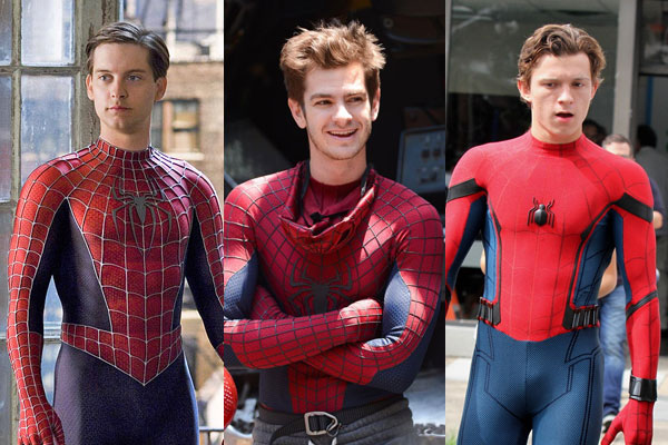 Spider-Man, Tobey Maguire, Andrew Garfield, Tom Holland