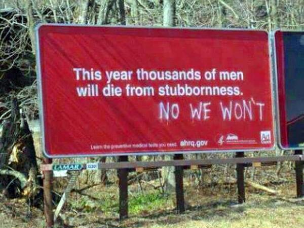 billboard PSA stubbornness